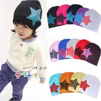 Wholesale New Unisex Baby Boy Girl Toddler Infant Children Cotton Soft Cute Hat Cap Winter Star Hats Baby Beanies Accessories