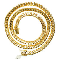 Wholesale Mens Miami Cuban Link K Yellow Gold grams X3 mm Necklace in