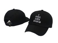 ball life - casquette Red I Feel Like Pablo Hat Kanye West The Life Of Pablo Merch Season EMBROIDERED GLASTONBURY UNSTRUCTRED DAD CAP rose hat