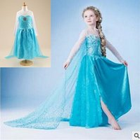 baby duck costumes - New Frozen dress costumes long sleeve skirt Princess Elsa party wear clothing for Halloween Saints Day frozen Princess dream dress