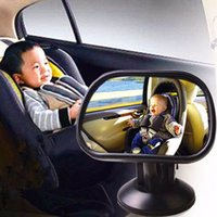 Wholesale Mini Adjustable Baby Car Mirror With Sucker Degree Rotation View Back Seat Safety Car Interior Accessories