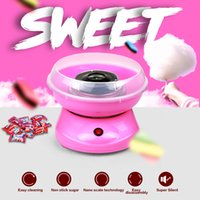 Wholesale 2016 Wonderful gift Mini portable Electric DIY Candy Floss Machine Cotton Candy maker Spun Sugar Processor best gift for children