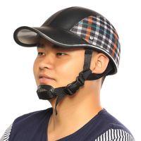Wholesale HOT SALES Motorcycle Helmet Baseball Cap Style Plaid Half Open Face Shorty Helmet Safety Hard Hat Anti UV Helmets cascos para moto Color