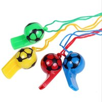 Wholesale Hot Sale Colored Plastic Whistle Football Fans Referee Whistle Souvenirs Fans Accessories Cheer Supplies