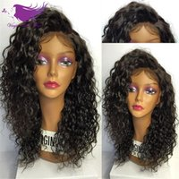 Wholesale 7A Glueless Full Lace Human Hair Wigs Brazilian Kinky Curly Lace Front Human Hair Wigs For Black Women curly wigs