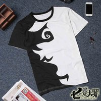 Wholesale The Seven Deadly Sins cotton t shirt team cloth cosplay Meliodas Elizabeth Liones