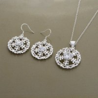 Wholesale silver Fashion jewelry necklace earrings WT Jewelry Sets Cheap Jewelry Sets