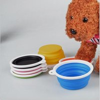Wholesale D11 pet bowls silicone Bowl pet folding portable dog bowls dog drinking water feed food bowl