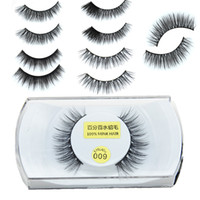 Wholesale High Quality D Natural Bushy Cross False Fake Eyelashes Mink Hair Handmade Eye Lashes Strengthen The Eyelash