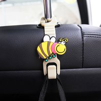 Wholesale Cartoon Animal Style Car Back Seat Headrest Hanger Holder Hook for Bag Purse Cloth Grocer Auto Fastener Car Back Seat Clip Clasp