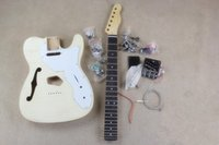 assembly guitar - TELE Paragraph DIY Assembly Guitar Semi finished Guitar Unassembled Electric Guitar Semi hollow Mahogany Body Without Paint