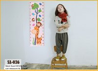 Wholesale 24 CM Children s wall growth height ruler giraffe wall stickers height of the child s cartoon height stickers patternS for Selected