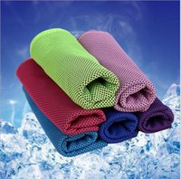 Wholesale 2016 Summer NEW PVA Cooling Ice Towel Soft Breathable Gym Yoga Towel Colors Available