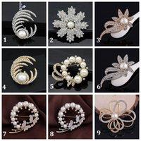 animal shapes butterflies - Hot Fashion Elegant Brooch Butterfly Moon Pearl Wedding Christmas Brooch Fashion Jewelry Women s Bra Pin Animal Brooches Gift Flower Shape
