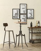 barstools furniture - American country to do the old wrought iron bar chairs retro style mining industry wind Barstools leisure furniture