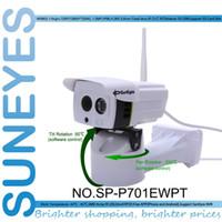 Wholesale SunEyes SP P701EWPT P HD Pan Tilt Rotation IP Camera Wireless Outdoor Weatherproof IP66 with Micro SD Slot P2P Phone View