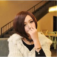 Wholesale Cosplay short wig straight hair wig student BOBO brown short hair wigs in girls