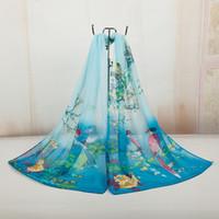 Wholesale Fashionable Chiffon Scarves Printed Flower Bono Women Shawls Long Scarf Shawl