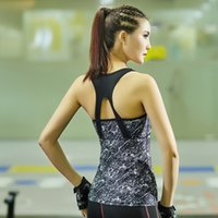 Wholesale Fashion Printing Sexy Gym Sports Tank Tops Lady s Fitness Quick Drying Running Vest Sleeveless Shirts Tank Tops Vest T142