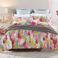 Wholesale European and American wind flowerss duvet cover flat sheet pillowcase pc bedding set duvet cover cotton four size