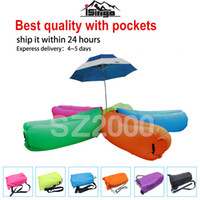 beach bags wholesale - US stock lamzac inflatable air lounge sleep lamzac hangout Laybag KAISR Beach Sofa Lounge only Seconds Quick Open Lay bag