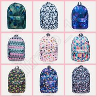 Wholesale 50PCS LJJH1322 Hot New Style Fashion Emoji Plaid backpack D Printing Travel Bags Cool School bag