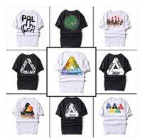 active basic t shirts - 2016 Palace Skateboards Classic Triangle Print T shirt Mens Basic Summer Noah Clothing Hip hop Cotton Short Sleeve Tshirt Tee