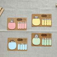Wholesale 1set Cute Sticky Notes Post it Creative DIY Animals Memo Pads Kawaii Stickers Paper Korean Stationery Office School Supplies