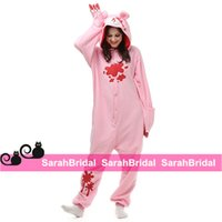 Wholesale Cheap Sleeve Jumpsuits - Pink Gloomy Bear Kigurumi Anime Cosplay Party Costume Leisure Household Animal Outfit Pajamas Jumpsuit for Sale Long Sleeves Homewear Cheap