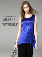 Wholesale 88098 original design summer new European and American fashion sweaters sleeveless T shirt Heavy beading blouses