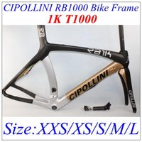 Wholesale Gold Black MCipollini RB1000 T1100 K Carbon Frame fork headset seatpost Size XXS XS S M L Cipollini RB1000 road bike frame BB30