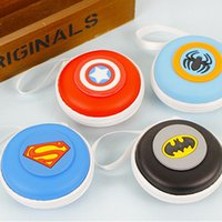 america headphones - Superman Batman Captain America Spiderman Coin Purse Super Heroes Earphone Headphones Organizer EVA Box Wallet Money Key Bag Kid Gift