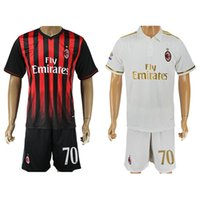 Wholesale 2016 Milan Soccer Jerseys AC Shirts Sets ACM Bacca Montolivo Shaarawy Bonaventura Home Away Football Kits Soccer Uniforms Jersey New