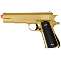 airsoft metal pistol - 310 FPS G13G GOLD METAL GUN MILITARY M1911 SPRING AIRSOFT PISTOL w mm BB BBs