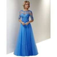 Wholesale Hot Sale Half Sleeve Mother Of Bride Dresses Appliques Sequined Tulle Mother Dresses For Wedding Party Vestido De Madrinha