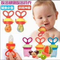 Wholesale Funny dummy kids silicon nipple pacifier fresh food milk fruits meat avent nibbler feeder baby feeding pacifier soother teether