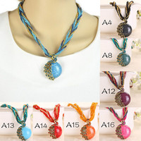 acrylic and glass beads - 2016 Cabochon and Crystal Peacock Pendant Necklace Multi Strands Twisted Glass Beads Choker Necklaces Colors For Lady Free DHL