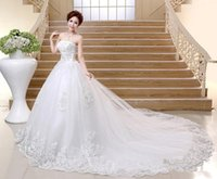 big bosom - 2016 The New Spring And Summer Wedding Dresses Bind Together To Wipes Bosom Big Trailing White Wedding Dress a1153