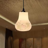 Wholesale Vintage Ceramic Pendant Light For Living Room E27 V V Gourd Lamp Artistic Pendant Lamp