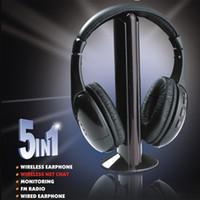 Wholesale Hot selling Black in MH2001 Hi Fi Wireless Headphones Earphone Headset for PC Laptop TV FM Radio MP3