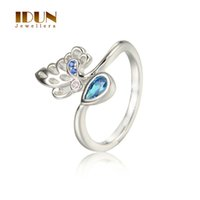 Wholesale 925 Sterling Silver Fine wedding Jewelry For Women Butterfly Zircon Animal Rings Engagement Anniversary Rings RIPY019