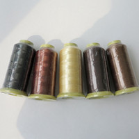 hair extension clip - 2000m Nylon weaving thread sewing thread for hair wefts clip hair professional hair extensions tools more colors