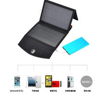 backpacking solar phone charger - Folding solar charger w w w monocrystalline silicon cell phone tablet charging treasure portable mobile power