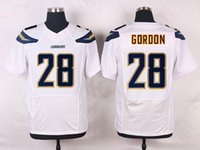 Wholesale 2016 Newest Men s SDC Melvin Gordon White Navy Blue light blue Football Jerseys Good Quality