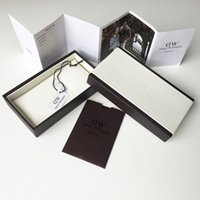 Wholesale Brand Luxury DW Daniel Wellington Original Watch Boxes A Complete Set Leather Watches Box With Tags Manual Tool Printed Logo