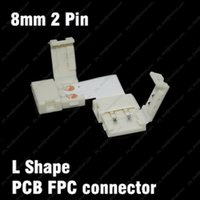 Wholesale L Shape mm PIN Quick Splitter Right Angle Corner Connector Conductor for Single Color LED Strip No soldering