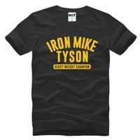 Wholesale 2016 New O Neck men s printed T shirt casual round neck short sleeve men champion Mike Tyson T shirt shirt Summer brand POpo O Neck shirts