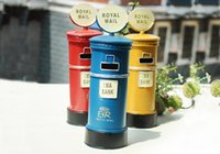 antique metal bank - vintage metal mail box nostalgic old tin boxes Creative Desktop decoration retro Home Furnishing ornaments piggy bank