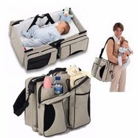 Wholesale High Quality in Multifunction Baby Crib Mummy Bag Mother Bag Portable Folding Travel Cot Baby Sleeping Bed