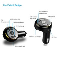 Wholesale FM Transmitter Bluetooth Car Kit Hands free USB Charger